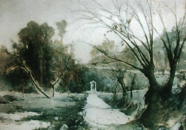 Dipinto spiritico del sensitivo Gustavo Adolfo Rol (1903-1994).