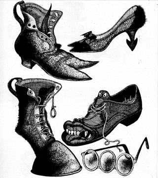 Disegno di Hans Arnold su «Abracadabra» 2 («Horror 6», maggio 1970)